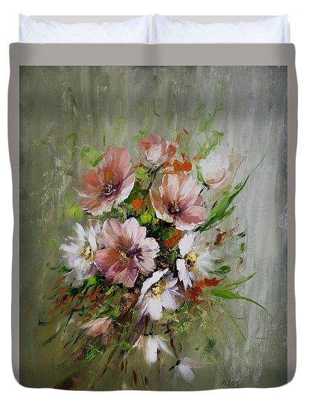 Elegant Flowers Duvet Cover by David Jansen
