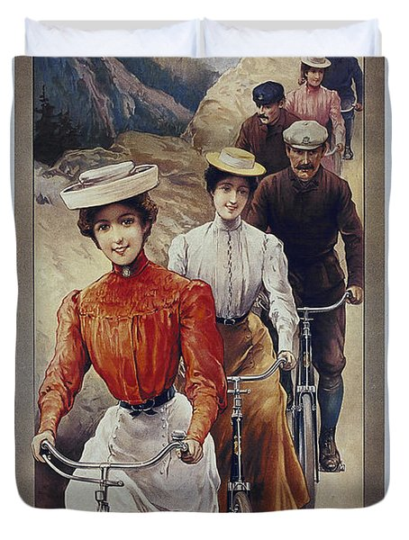 Elegant Fongers Vintage Stylish Cycle Poster Duvet Cover