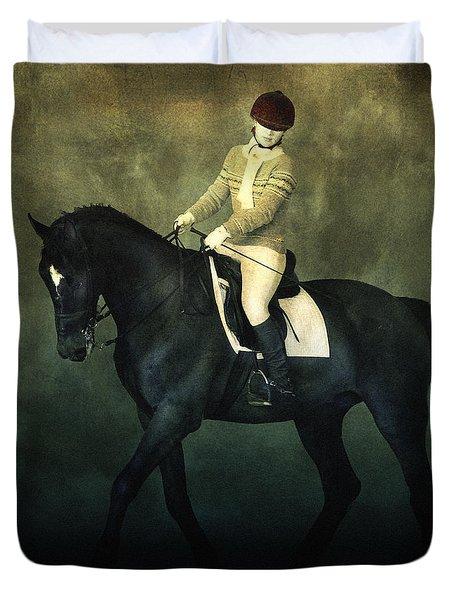 Elegant Horse Rider Duvet Cover