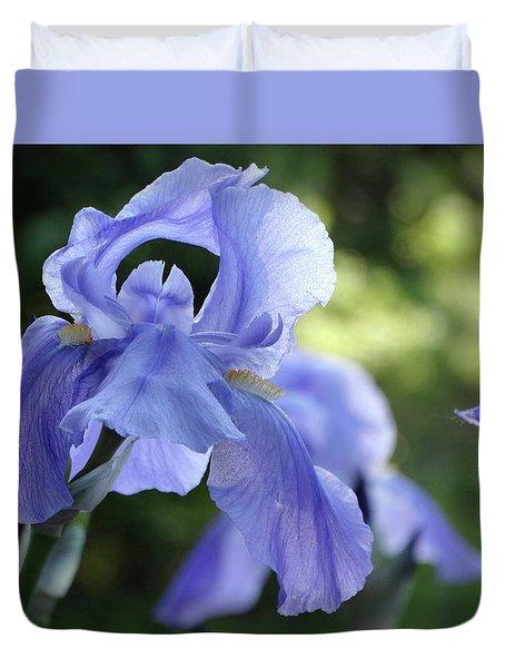 Elegant Iris In Spring Duvet Cover