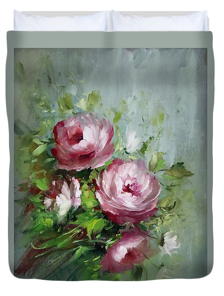 Elegant Roses Duvet Cover by David Jansen