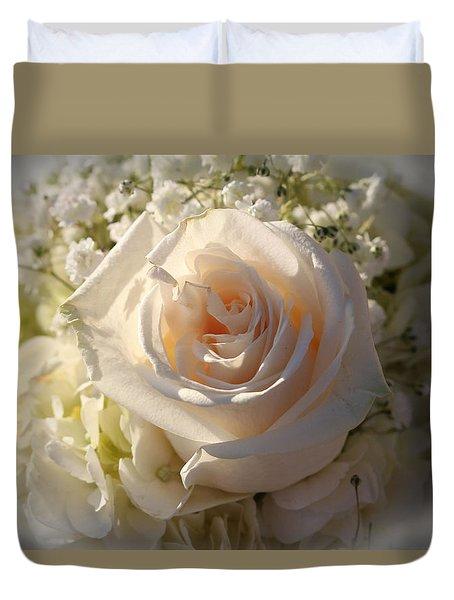 Elegant White Roses Duvet Cover by Cynthia Guinn