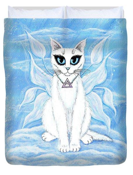 Elemental Air Fairy Cat Duvet Cover