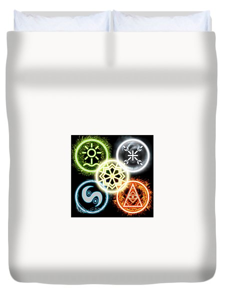 Duvet Cover featuring the digital art Elements Of Nature by Shawn Dall