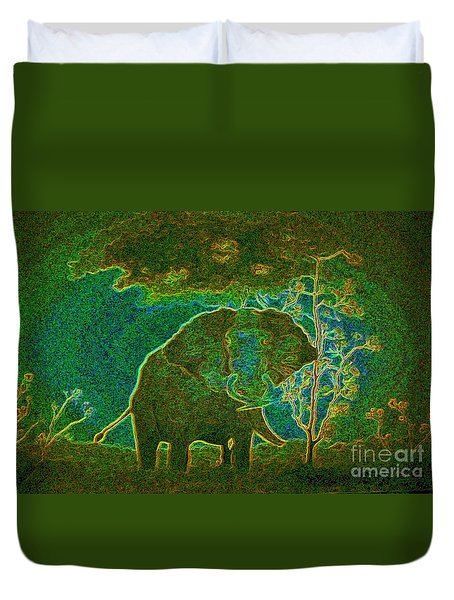 Elephant Abstract Duvet Cover