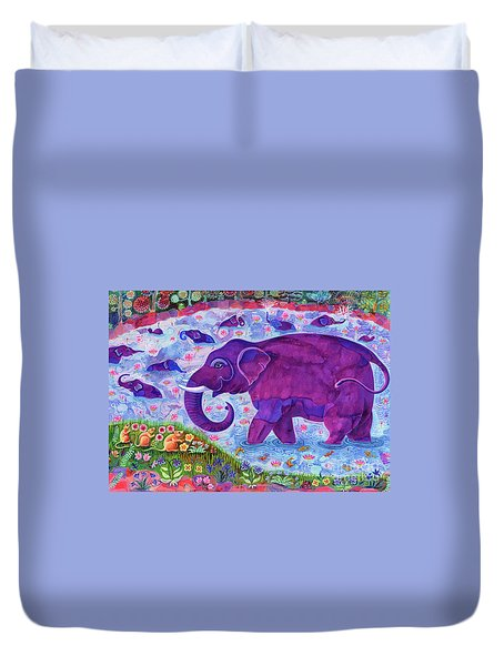 Elephant And Mice Duvet Cover