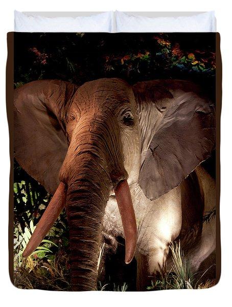 Elephant At Rainforest Cafe Duvet Cover