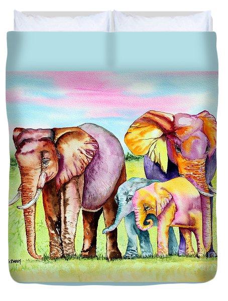 Elephant Aura Duvet Cover
