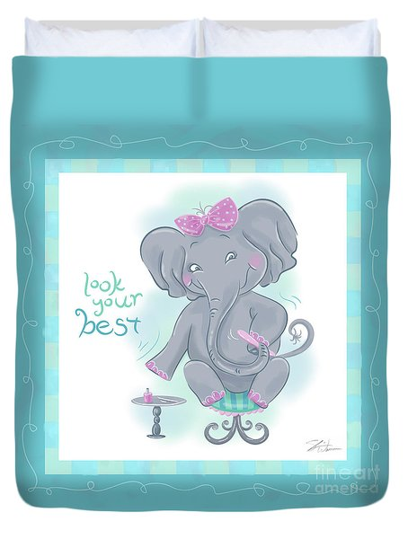 Elephant Bath Time Look Your Best Duvet Cover