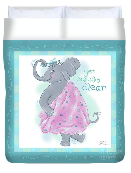 Elephant Bath Time Squeaky Clean Duvet Cover