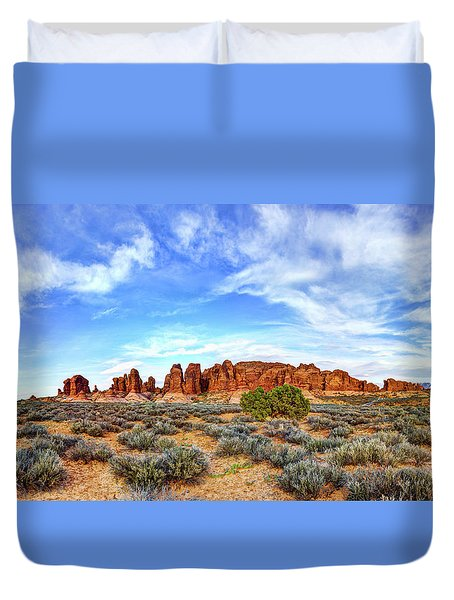 Elephant Butte Duvet Cover