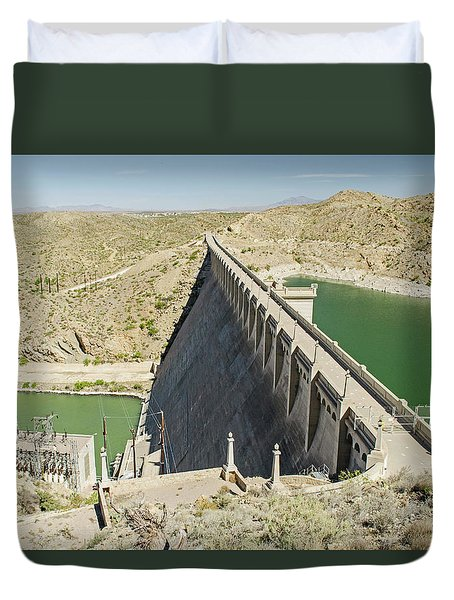 Elephant Butte Dam Duvet Cover