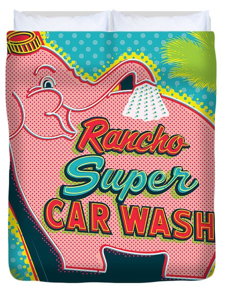 Elephant Car Wash - Rancho Mirage - Palm Springs Duvet Cover