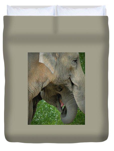 Elephant Closeness Duvet Cover