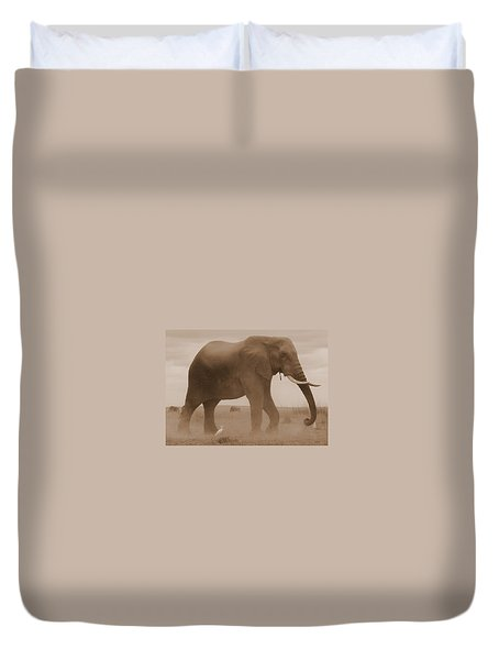 Elephant Dust Duvet Cover