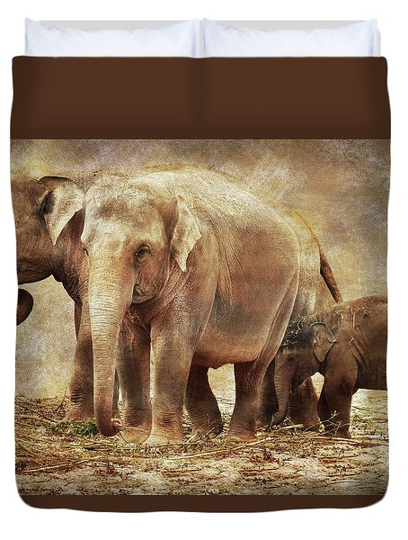 Elephant Family Duvet Cover