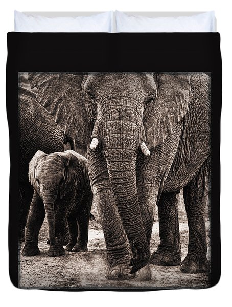 Elephant Family Time Duvet Cover