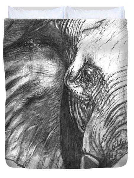 Elephant For Alabama  Duvet Cover