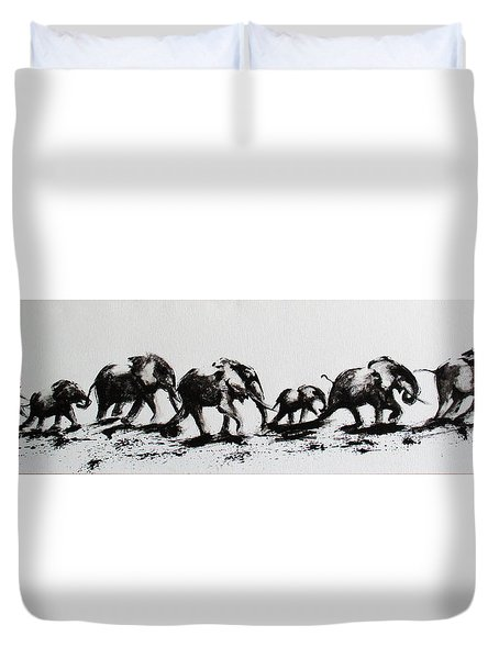 Elephant Fun Duvet Cover