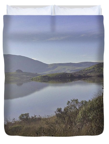 Elephant Hill In Mist Duvet Cover