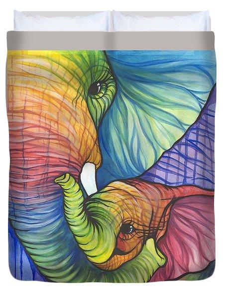 Elephant Hug Duvet Cover