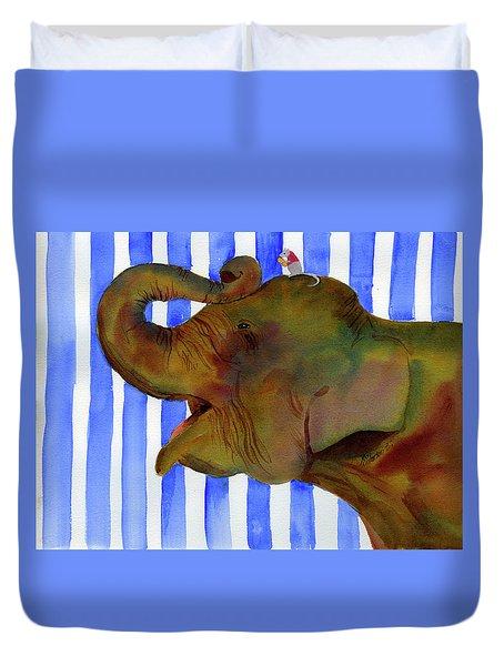 Elephant Joy Duvet Cover