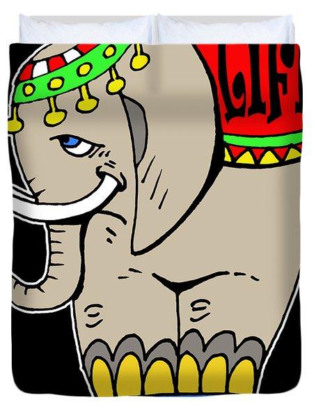 Elephant Life  Duvet Cover