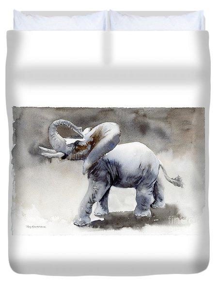 Elephant Light Study  Duvet Cover by Amy Kirkpatrick