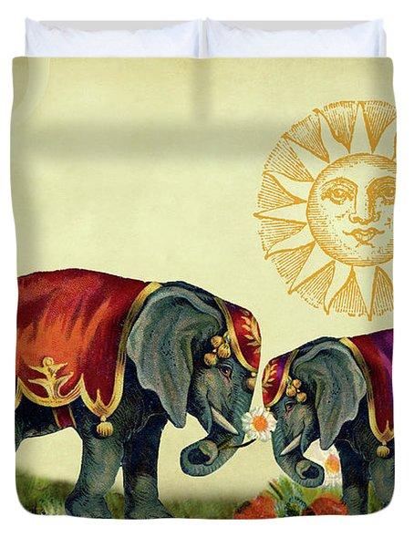 Elephant Love Duvet Cover