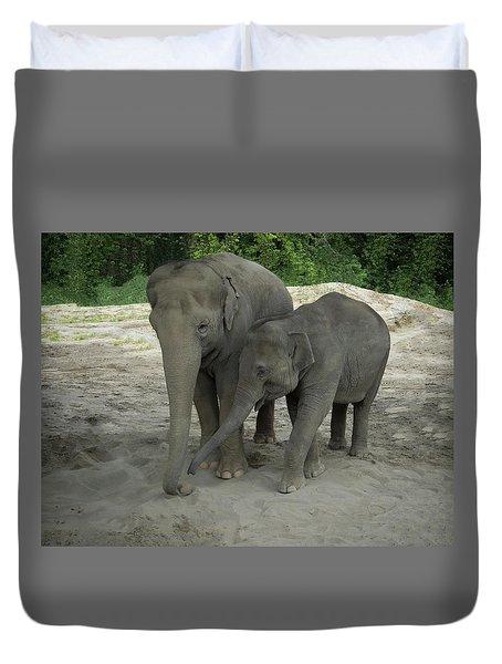 Elephant Nose Communication Duvet Cover