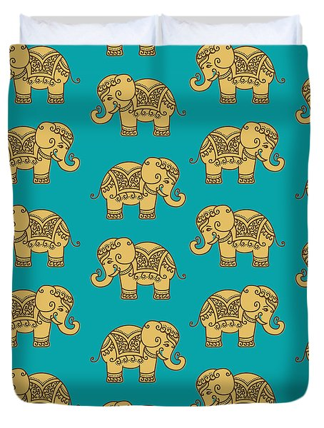 Elephant Pattern Duvet Cover