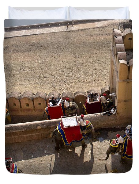 Elephant Ride 3 Duvet Cover