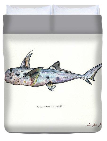 Elephant Shark Duvet Cover