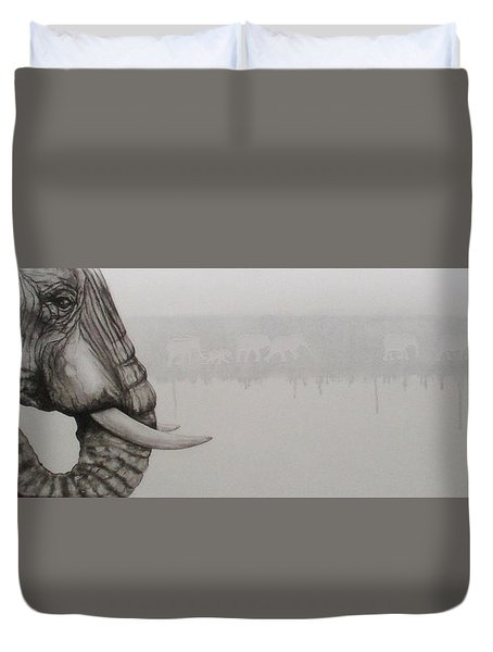 Elephant Tears Duvet Cover