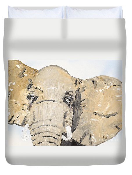 Elephant Up Close Duvet Cover