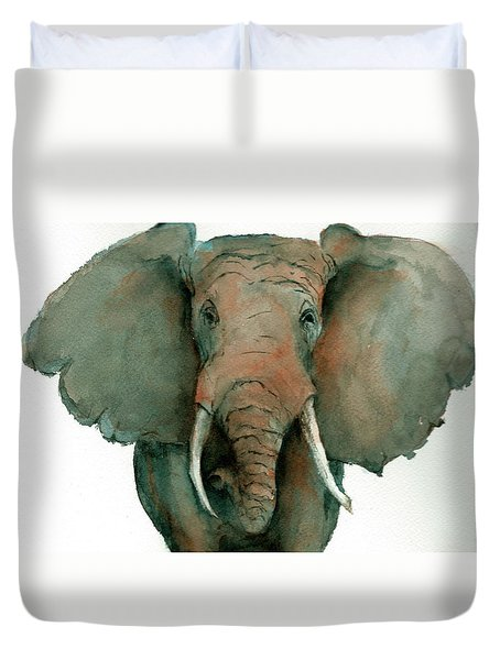 Elephant Up Close Duvet Cover