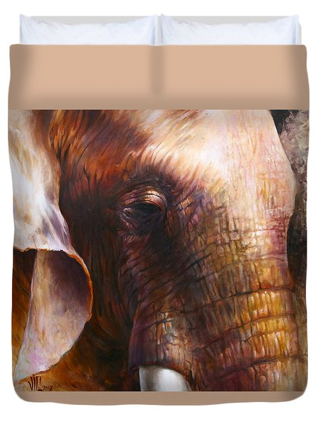 Elephant Empathy Duvet Cover