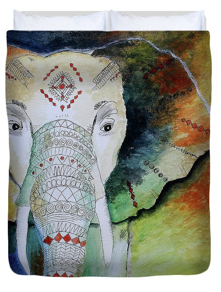 Elephantastic Duvet Cover