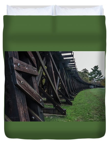Harpers Ferry Elevated Railroad Duvet Cover