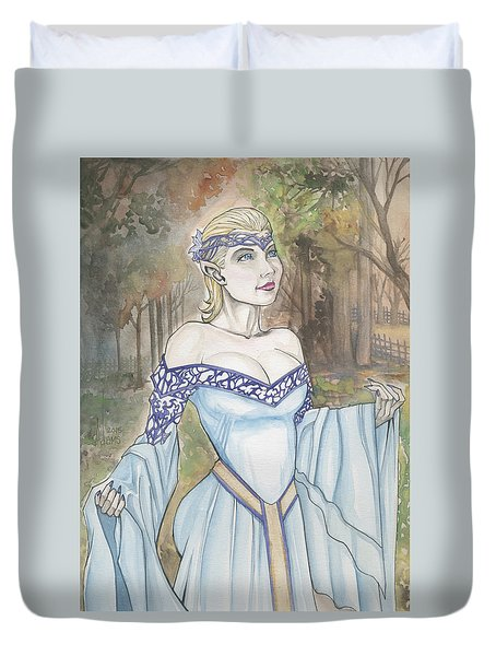 Elf Lotr Duvet Cover by Jimmy Adams