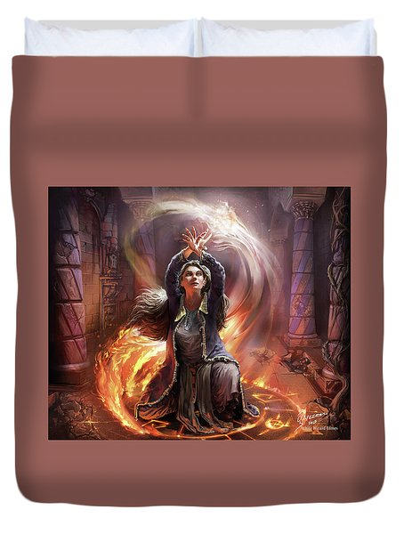 Elf Mage Duvet Cover
