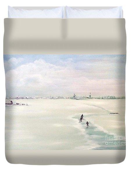 Elf Stedentocht- Eleven Cities Tour Duvet Cover by Annemeet Hasidi- van der Leij