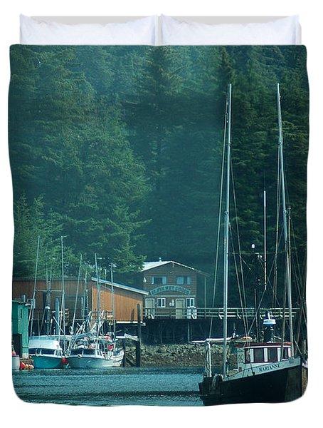 Elfin Cove Alaska Duvet Cover
