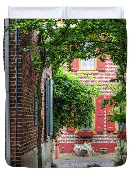 Calico Alley  Duvet Cover by David Zanzinger