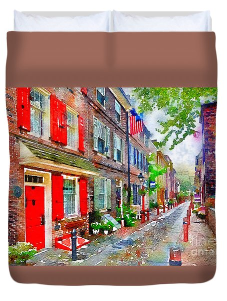 Elfreths Alley Duvet Cover
