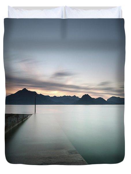 Elgol At Sunset Duvet Cover
