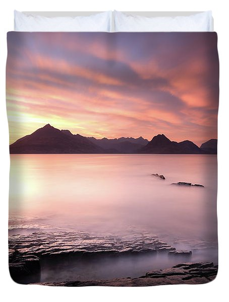 Elgol Sunset Duvet Cover