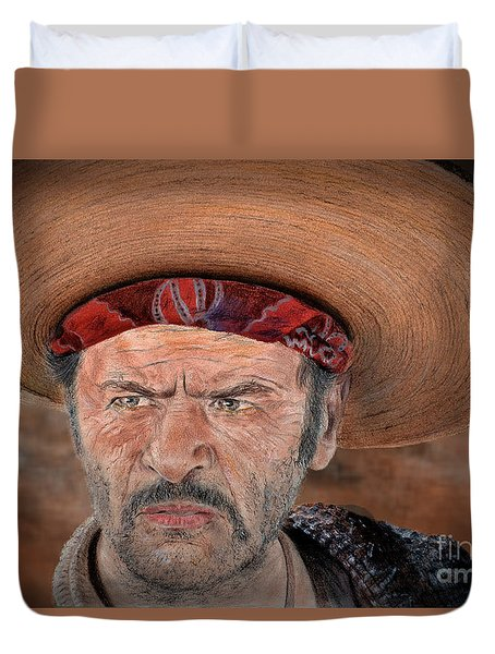 Eli Wallach As Tuco In The Good The Bad And The Ugly Version II Duvet Cover