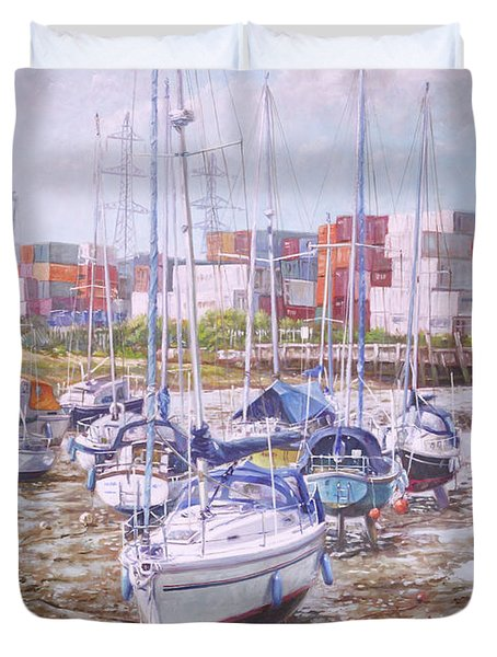 Eling Yacht Southampton Containers Duvet Cover