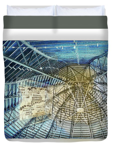 Elitch Pavilion Redo Duvet Cover by Deborah Nakano